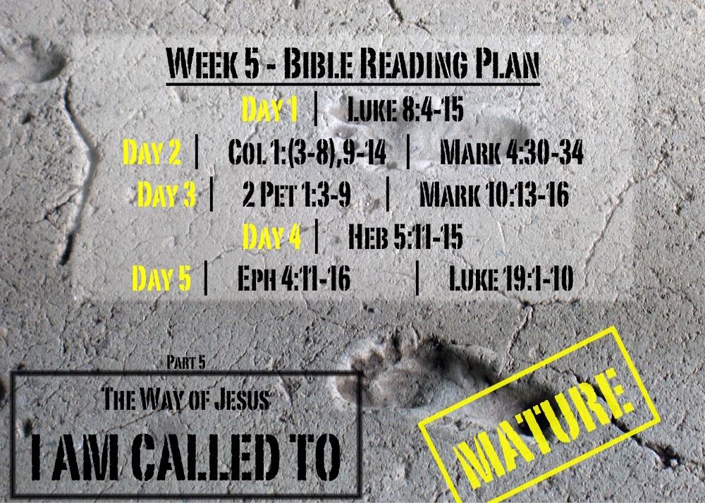 TheWayOfJesus-I am called to - Week 5 Reading Slide