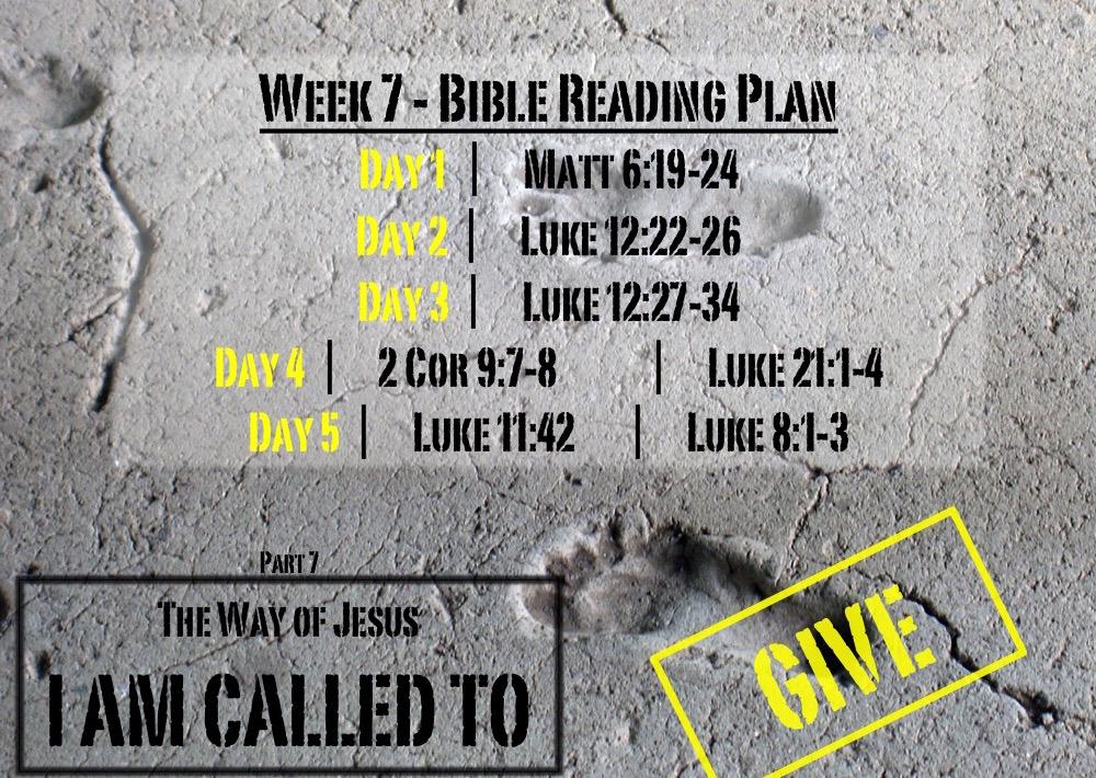 TheWayOfJesus-I am called to - Week 7 Reading Slide