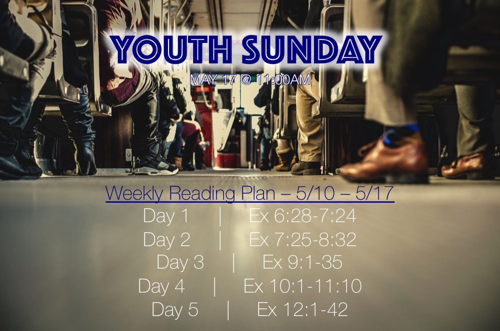 Youth Sunday - Weekly Reading Plan - May 10 - 17 2015