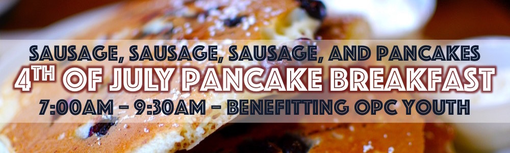 4th of July Pancake Breakfast Banner