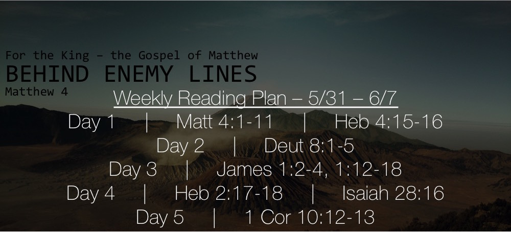 Matt 4.1-11 - Reading Plan Slide 5.31-6.7
