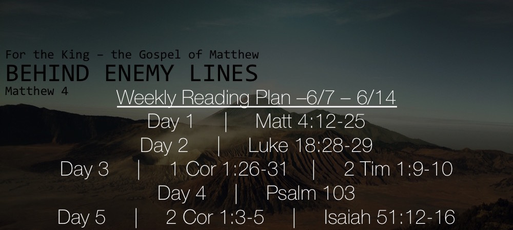 Matt 4.12-25 - Reading Plan Slide 6.7-6.14