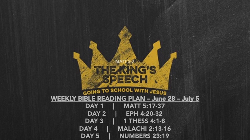 Matt 5.17-37B Reading Slide - The Kings Speech (part 2B)